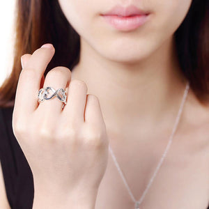 Simple Romantic Heart-shaped Adjustable Open Ring