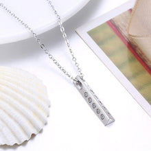 Load image into Gallery viewer, 925 Sterling Silver Simple Geometric Triangle Post Pendant with Cubic Zircon and Necklace