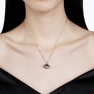925 Sterling Silver Fashion Simple Shell Bell Pendant with Necklace