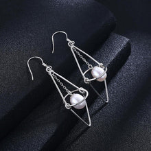 Load image into Gallery viewer, 925 Sterling Silver Simple Fashion Geometric Pearl Earrings