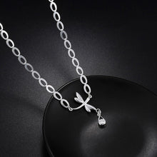 Load image into Gallery viewer, Fashion Simple Dragonfly Water Drop Necklace with Cubic Zircon