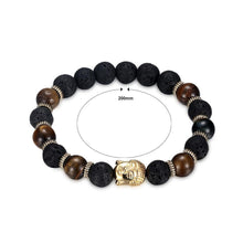 Load image into Gallery viewer, Fashion Golden Buddha Tiger's Eye Bead Bracelet - Glamorousky