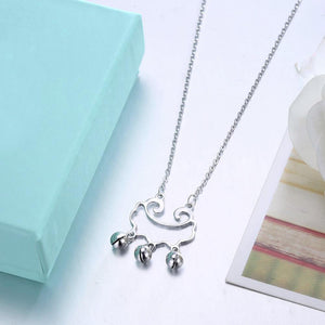 925 Sterling Silver Fashion Simple Bell Pendant with Necklace