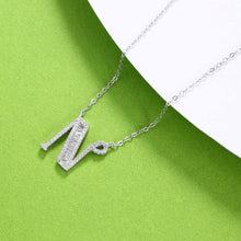 Load image into Gallery viewer, 925 Sterling Silver Fashion Personality Letter N Cubic Zircon Necklace
