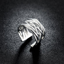 Load image into Gallery viewer, Fashion Simple Woven Adjustable Split Ring - Glamorousky