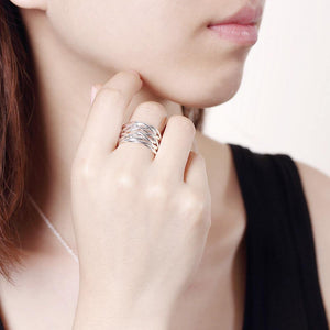 Fashion Simple Woven Adjustable Split Ring - Glamorousky