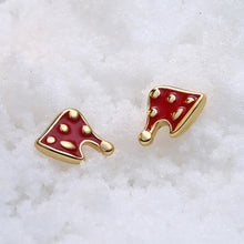 Load image into Gallery viewer, Fashion Simple Plated Gold Christmas Hat Stud Earrings - Glamorousky