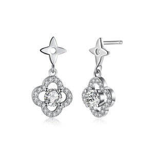 Fashion Elegant Flower Earrings with Cubic Zircon - Glamorousky