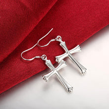 Load image into Gallery viewer, Fashion Simple Cross Earrings - Glamorousky