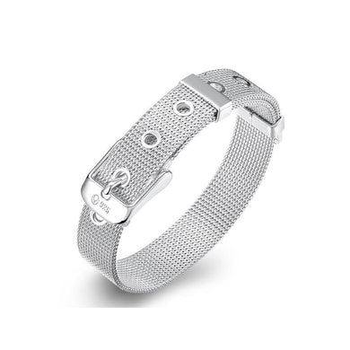 Simple and Fashion 10mm Mesh Strap Geometric Bracelet