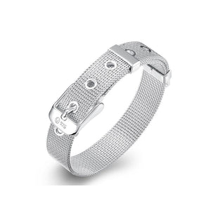 Simple and Fashion 10mm Mesh Strap Geometric Bracelet - Glamorousky