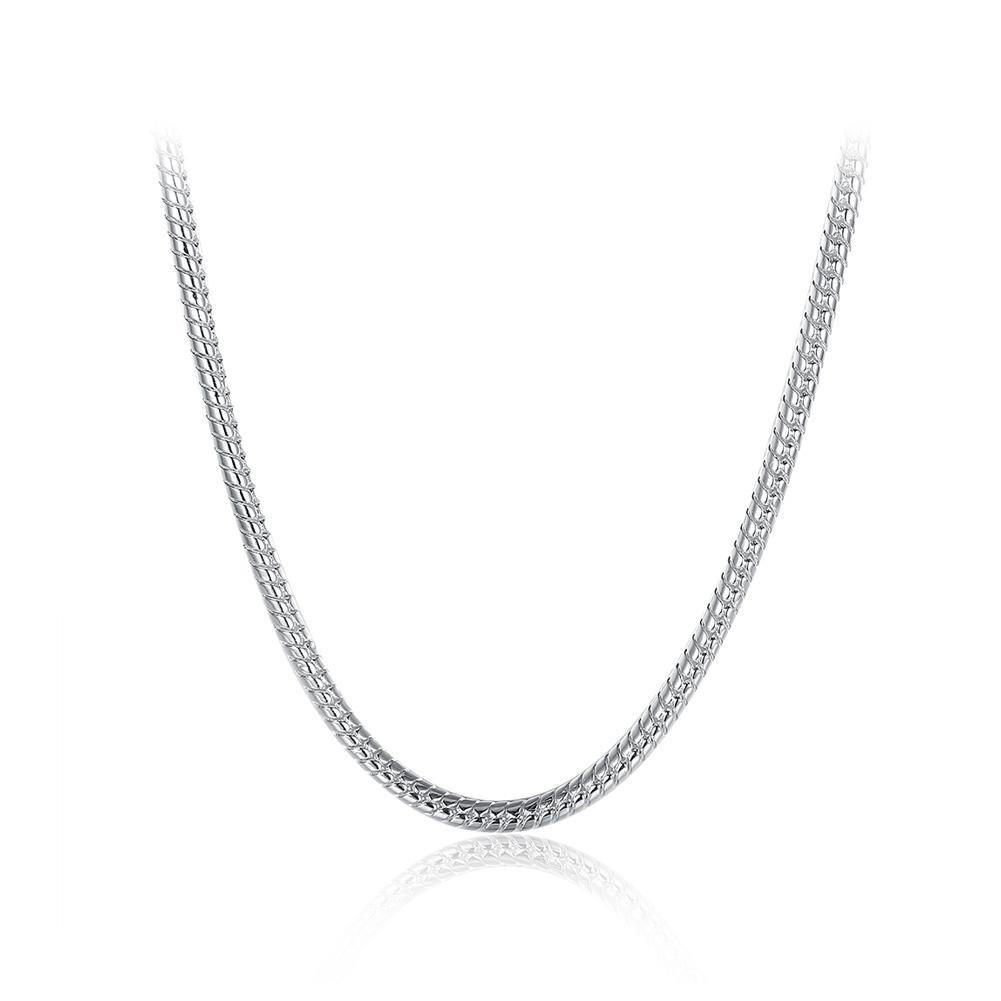 Simple Fashion 4mm Geometric Snake Texture Necklace 60cm - Glamorousky