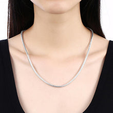 Load image into Gallery viewer, Simple Fashion 4mm Geometric Snake Texture Necklace 60cm - Glamorousky