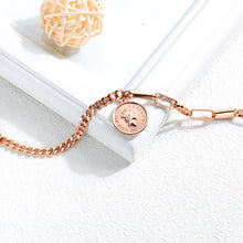Load image into Gallery viewer, Fashion Simple Plated Rose Gold Elizabeth Coin Titanium Steel Bracelet - Glamorousky