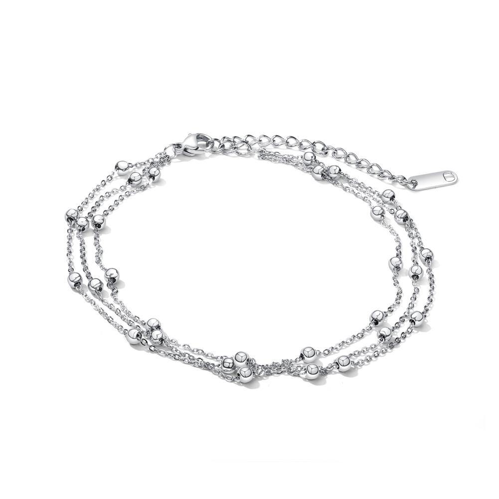Fashion Simple Geometric Round Bead Titanium Steel Multi-layer Anklet - Glamorousky