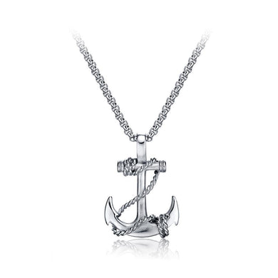 Fashion Personality Anchor Titanium Steel Pendant with Necklace