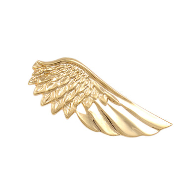 Fashion and Elegant Plated Gold Angel Wings Tie Clip