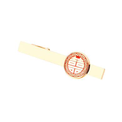 Fashion Simple Plated Gold Festive Geometric Round Tie Clip
