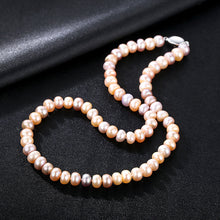 Load image into Gallery viewer, 925 Sterling Silver Fashion Elegant Freshwater Pearl Beaded Necklace