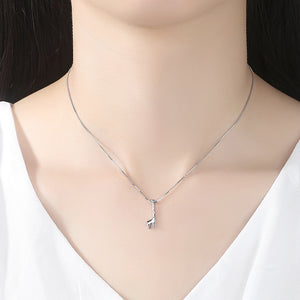 925 Sterling Silver Simple Fashion Giraffe Pendant with Necklace