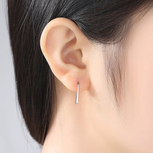 Load image into Gallery viewer, 925 Sterling Silver Plated Rose Gold Simple Fashion Geometric Earrings