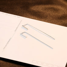 Load image into Gallery viewer, 925 Sterling Silver Simple and Fashion Geometric Strip Earrings