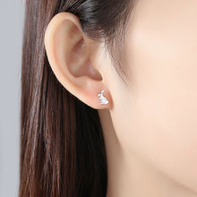 Load image into Gallery viewer, 925 Sterling Silver Simple Creative Carrot Rabbit Asymmetric Stud Earrings
