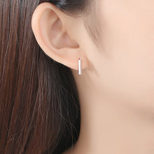 Load image into Gallery viewer, 925 Sterling Silver Simple Fashion Geometric Strip Stud Earrings