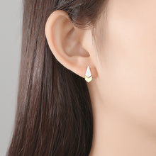 Load image into Gallery viewer, 925 Sterling Silver Simple and Fashion Two-color Water Drop Stud Earrings