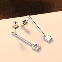 Load image into Gallery viewer, 925 Sterling Silver Fashion Simple Long Geometric Earrings