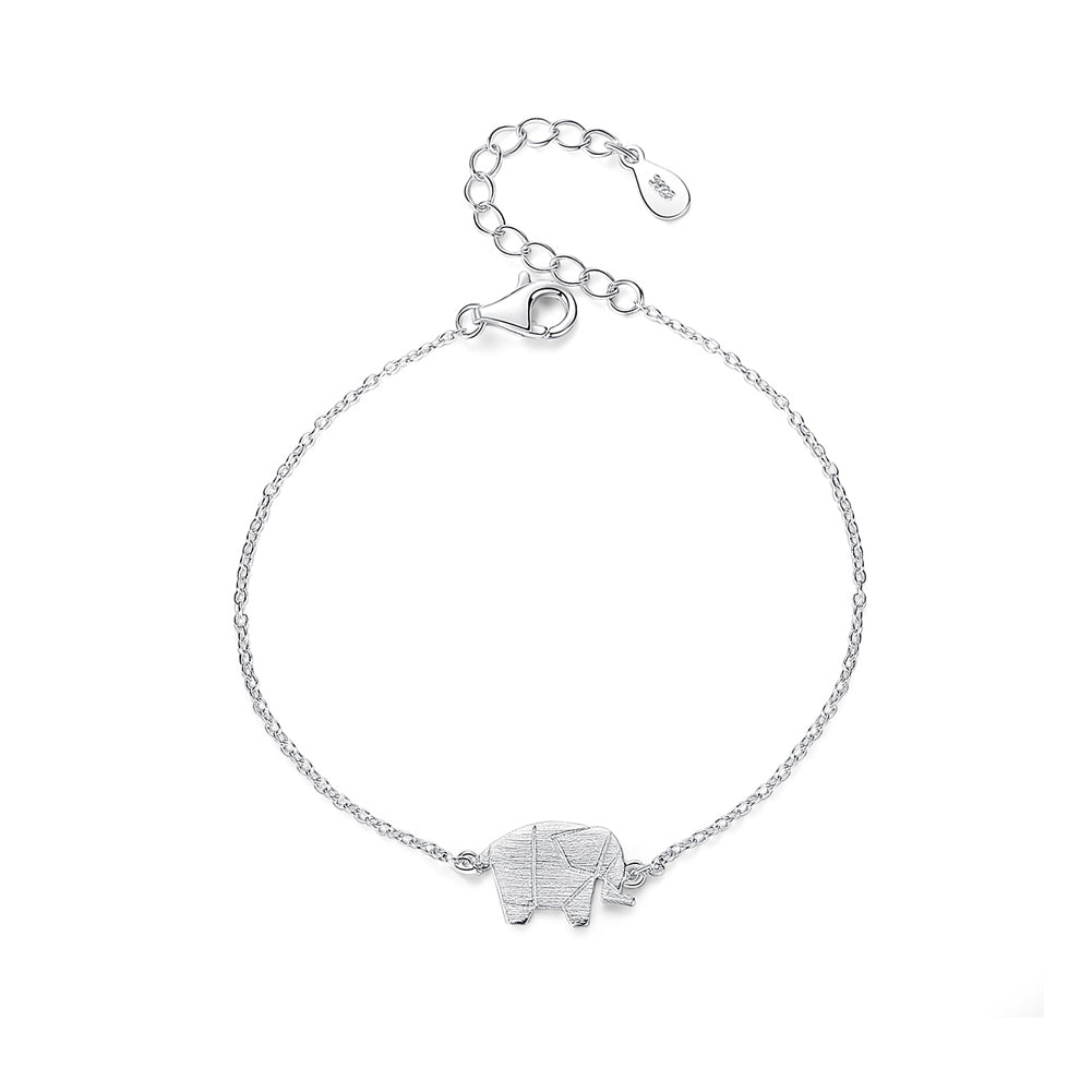 925 Sterling Silver Simple Fashion Elephant Bracelet