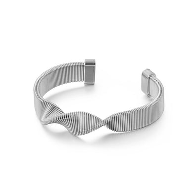 Fashion Personality Geometric Spiral Strap 316L Stainless Steel Bangle