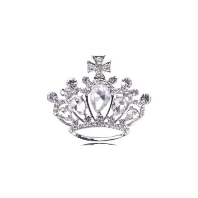 Fashion and Elegant Crown Brooch with Cubic Zirconia