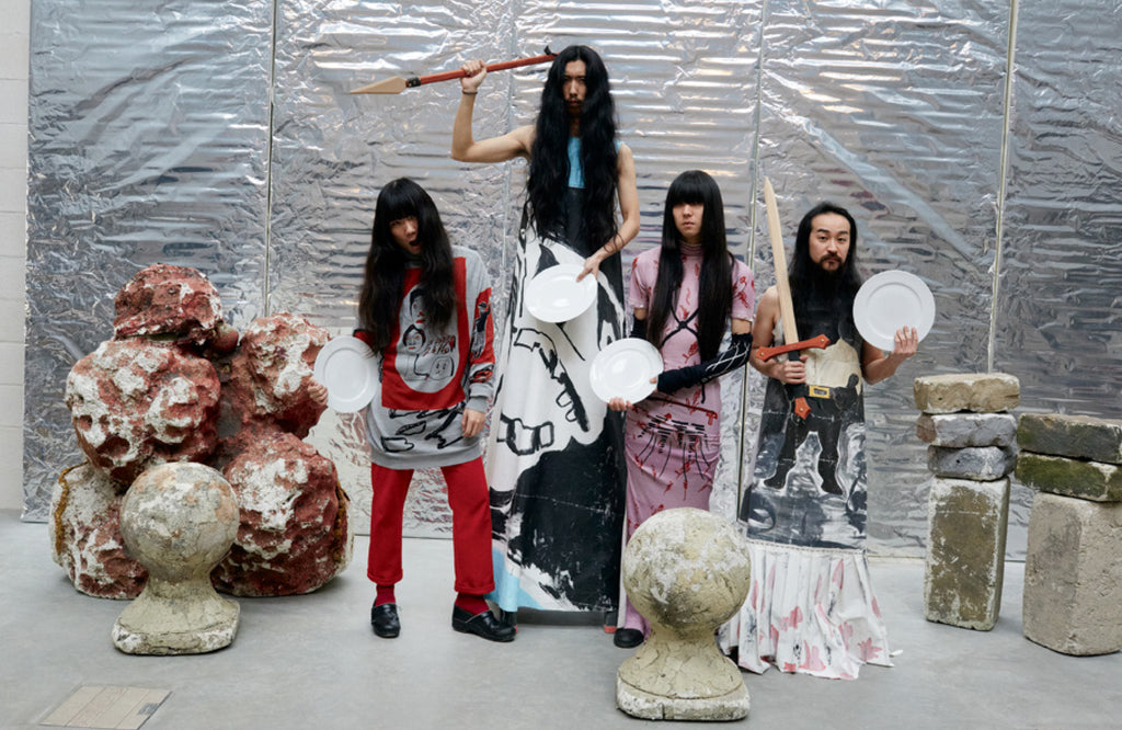 Bo Ningen in Arena Homme+ by Juergen  Teller and Poppy Kain wearing Claire Barrow Autumn Winter 16
