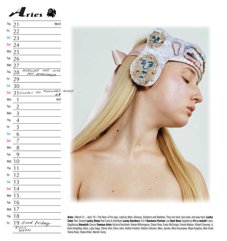Year Of The Pig 2019 zodiac calendar in collaboration with Eloise Parry, PZ World, Kiyoko Odo and Anne Sophie Costa
