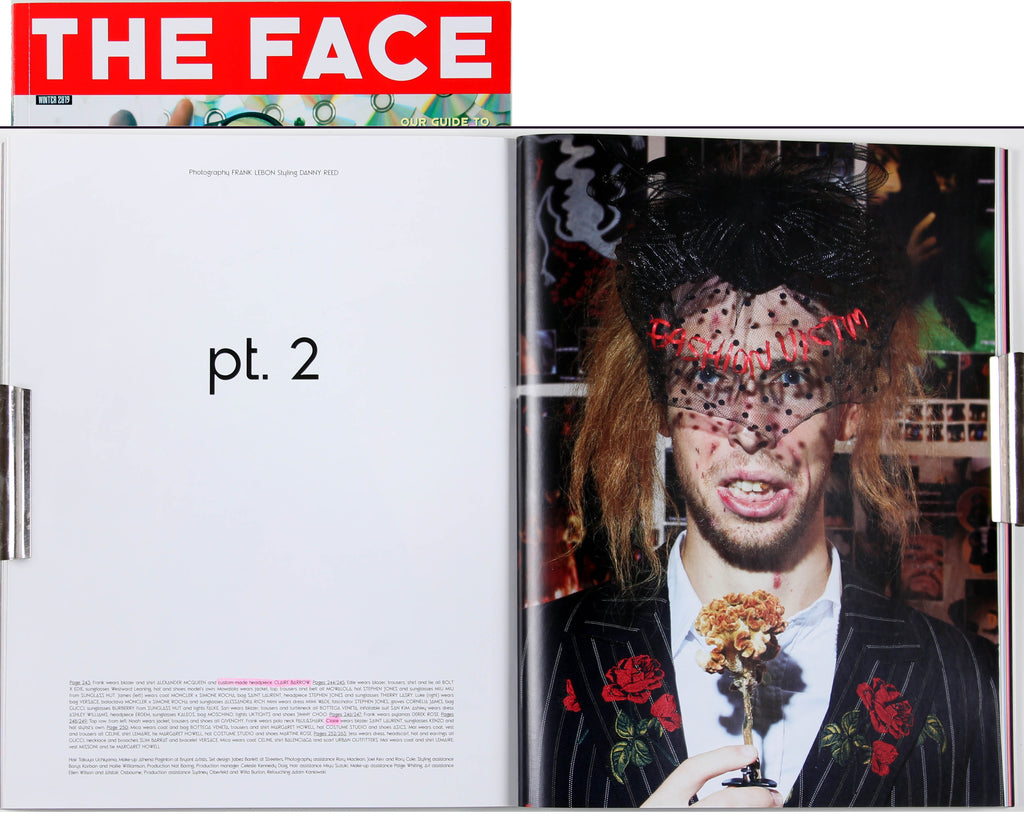 The Face Winter 2019, Fashion Victim pt. 2, pages 252-53