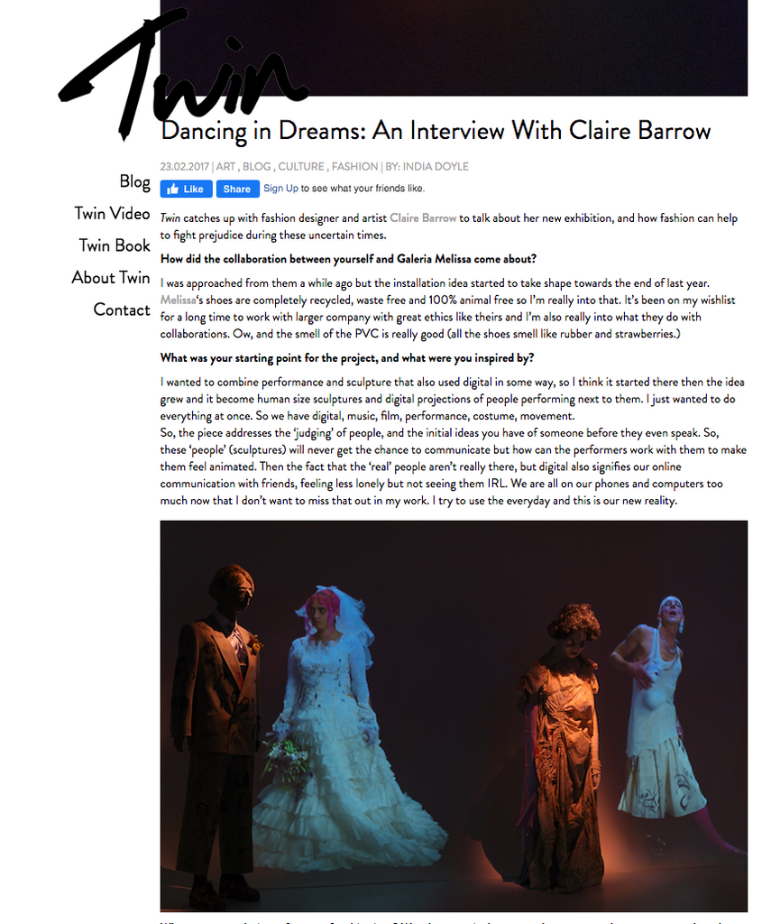 Dancing in Dreams: An Interview With Claire Barrow, Twin, 2017