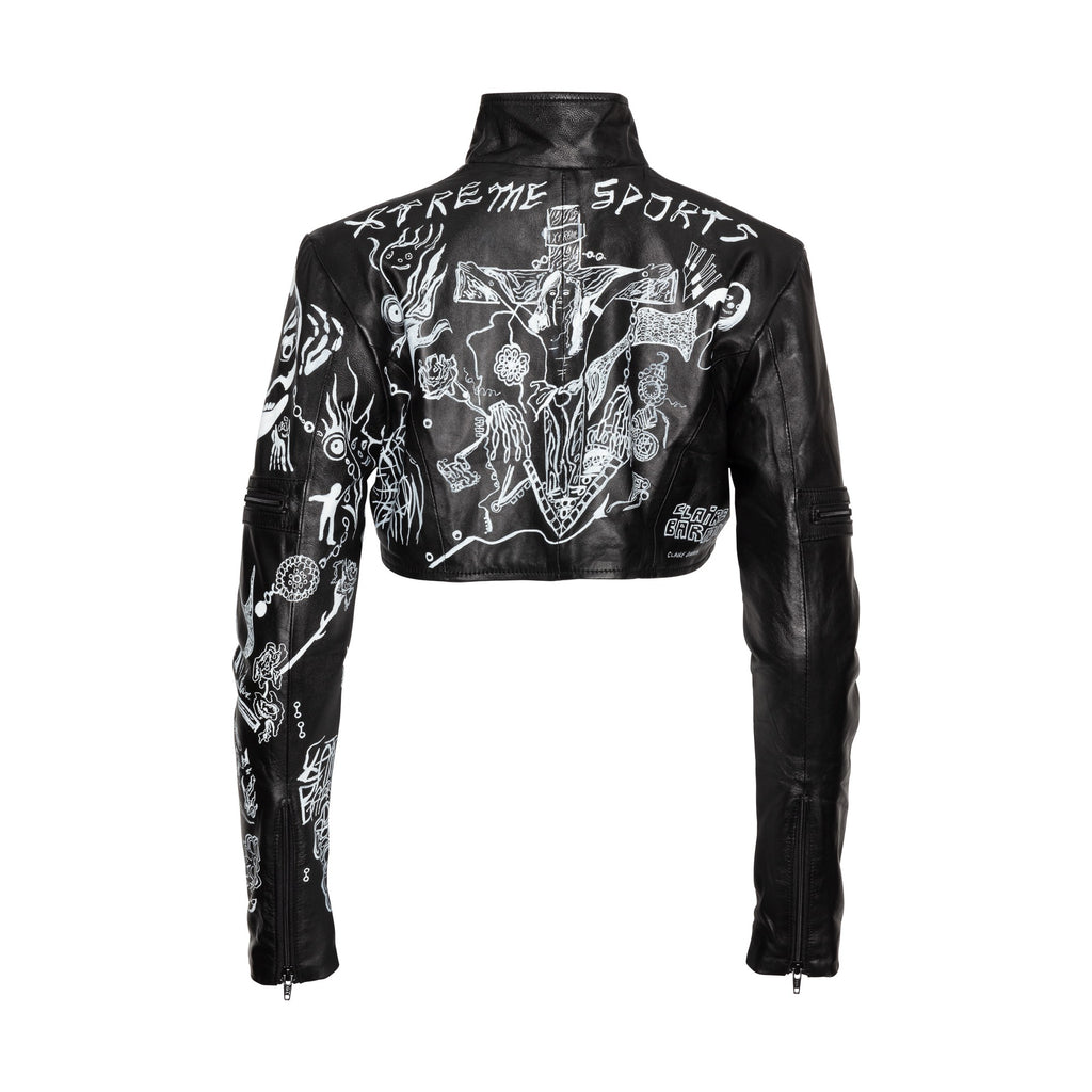Xtreme Sports Adrenaline Collection Hand Painted Leather Jacket