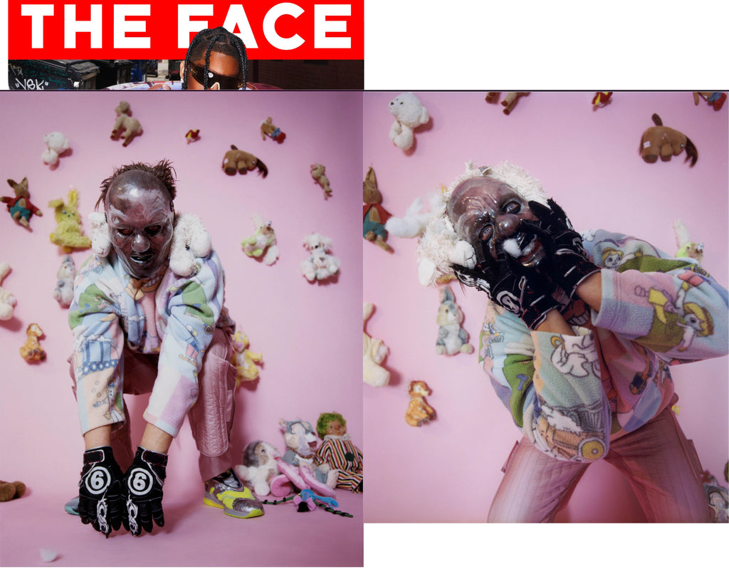 The Face issue 4, Slipknot Clown, by Harley Weir and Danny Reid, Slits Journey