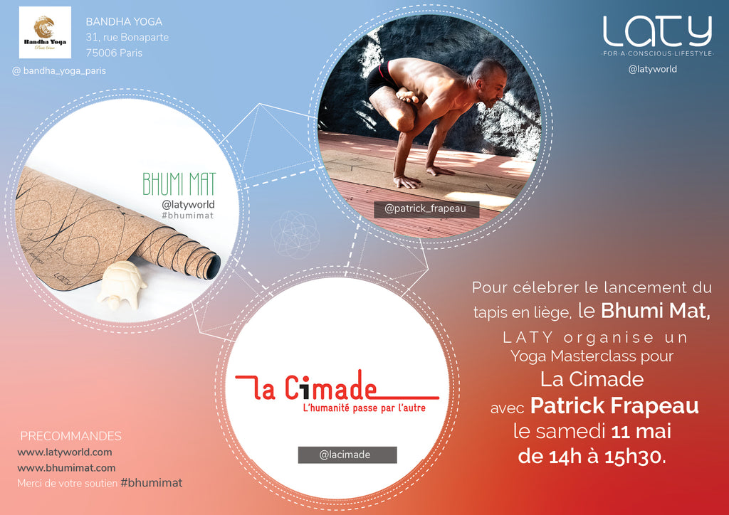 Patrick Frapeau, Bandha Yoga and Bhumi Mat for La Cimade