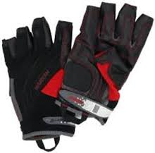 Gloves,  cut fingers - Harken Reflex Black/Red