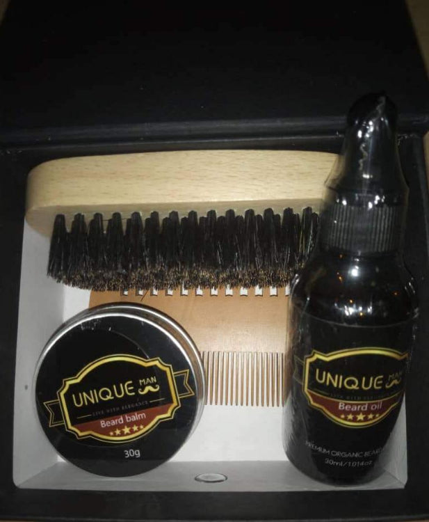 Perfect Beard Oil and Balm with Shea Butter for Hair Growth and Free Comb