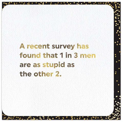 Recent Survey about Men