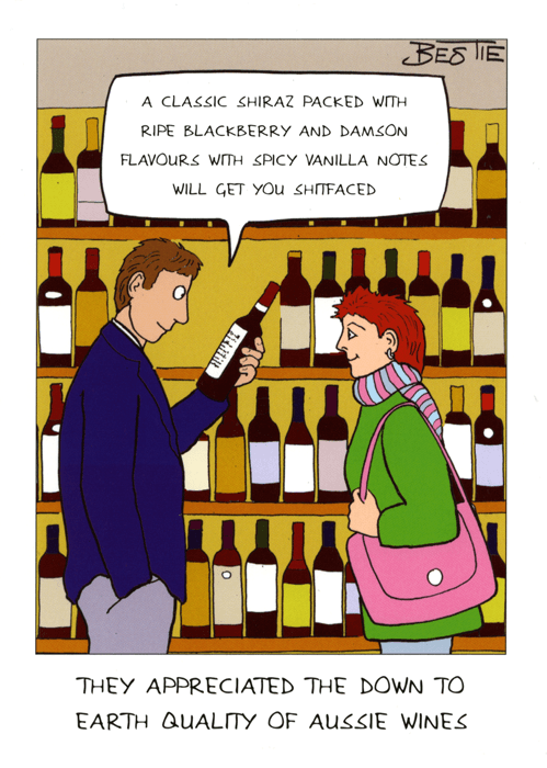 Funny Cards - Aussie Wine