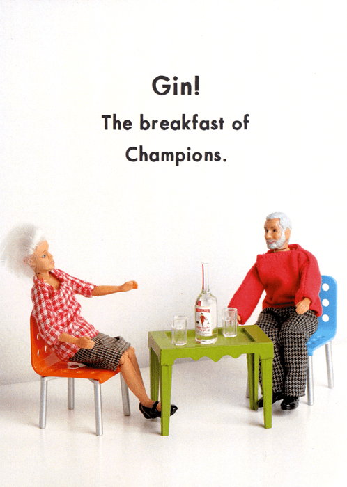 Funny Cards - Gin - The Breakfast Of Champions