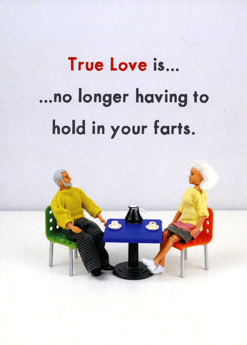 Love / Anniversary Cards - True Love - No Longer Hold In Farts