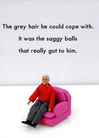 Grey hair he could cope with