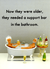 Birthday Card - Support Bar In The Bathroom