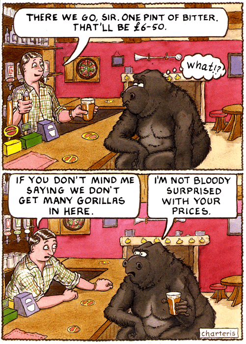 Birthday Card - Don't Get Many Gorillas In Here