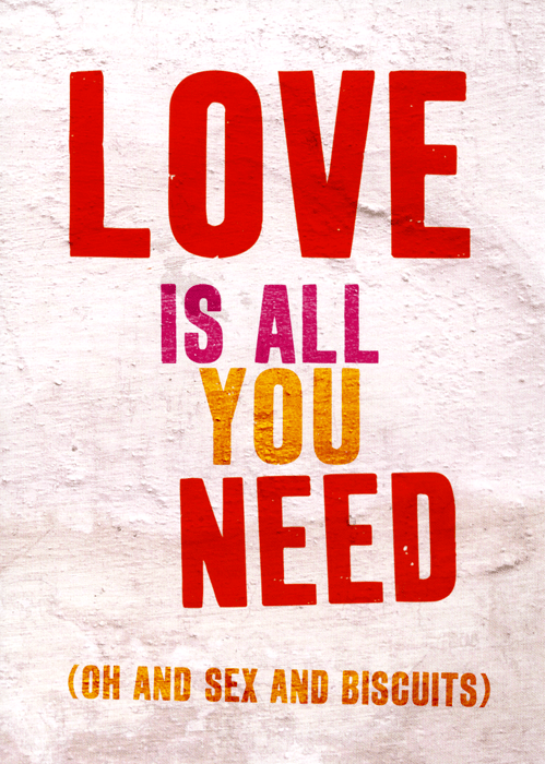 Funny Cards - Love Is All You Need